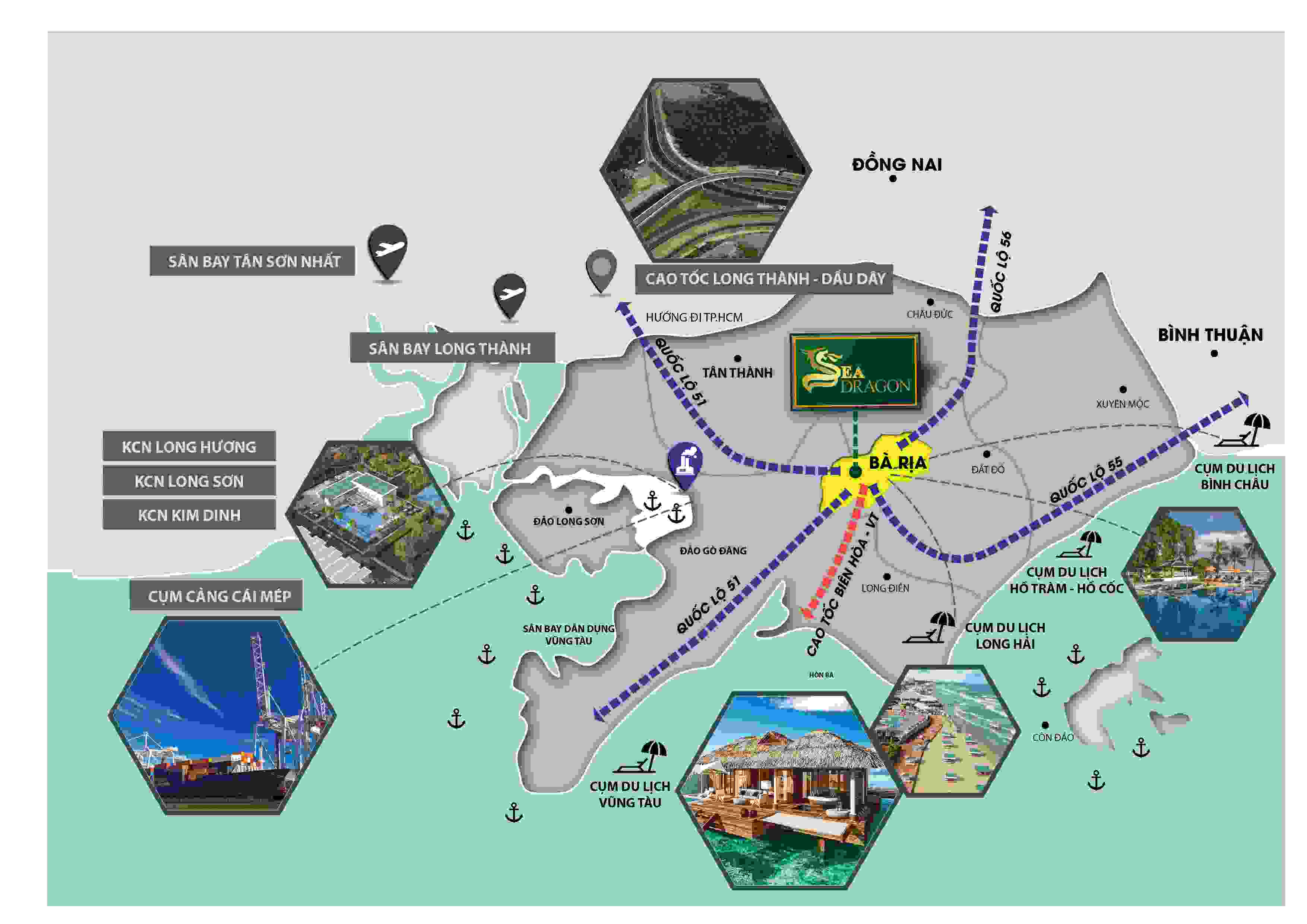 Vị trí Dự án đất nền Sea Dragon Vũng Tàu City
