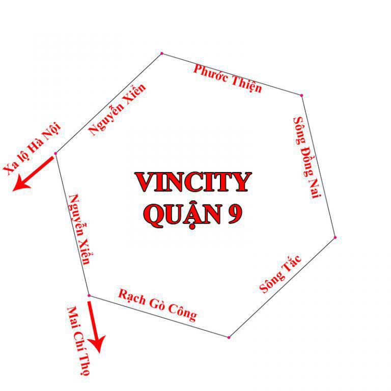 Vị trí căn hộ Vincity Quận 9