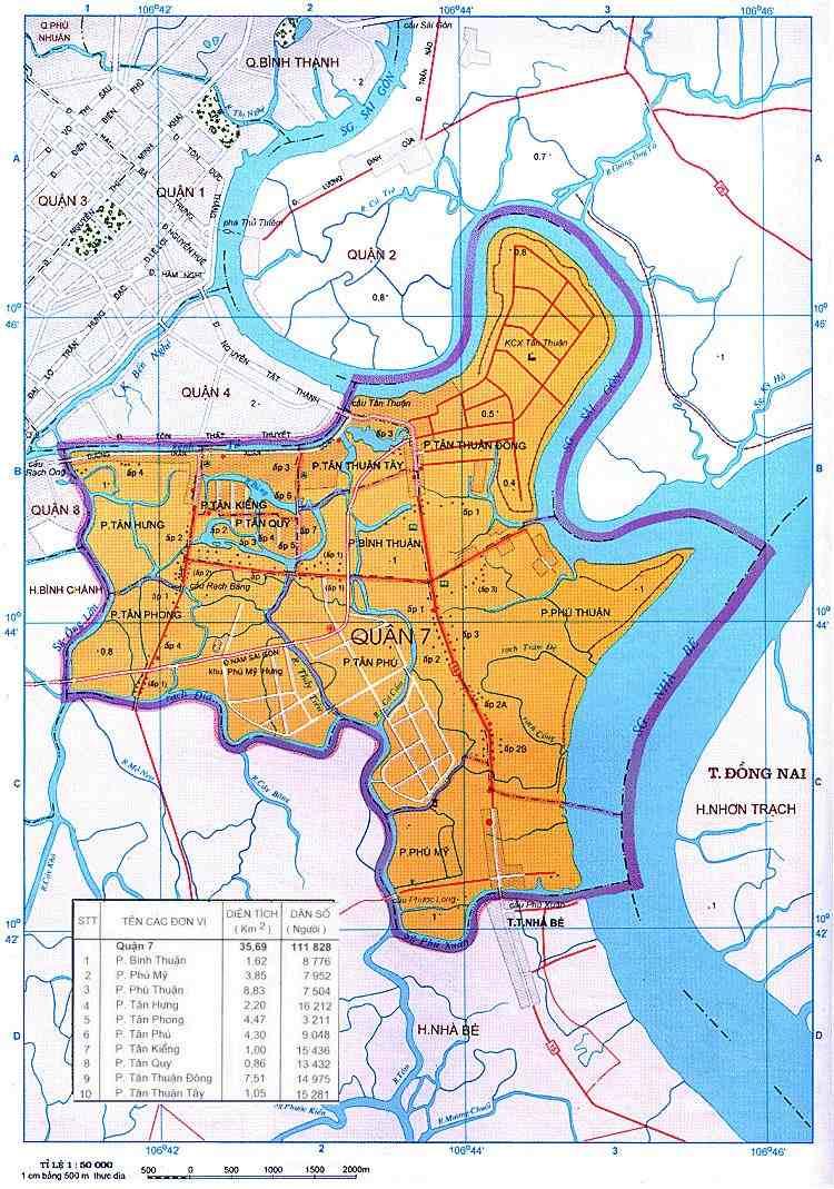 Vị trí khu vực quận 7 - Giá căn hộ quận 7