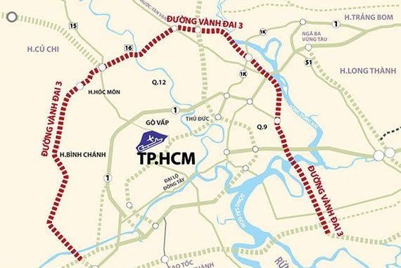 Dự án tuyến đường Vành Đai 3 Tp.HCM đi các tỉnh lân cận