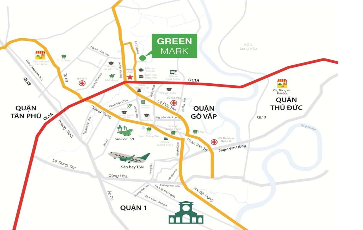 Green Mark Quận 12- Vị trí dự án căn hộ chung cư