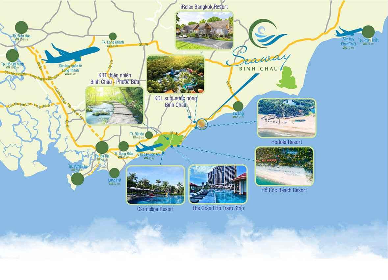 Vị trí Dự án đất nền khu đô thị SeaWay Bình Châu - Bà Rịa Vũng Tàu