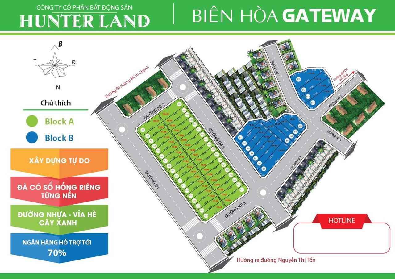 Biên Hoà GateWay - Mặt bằng phân lô dự án đất nền