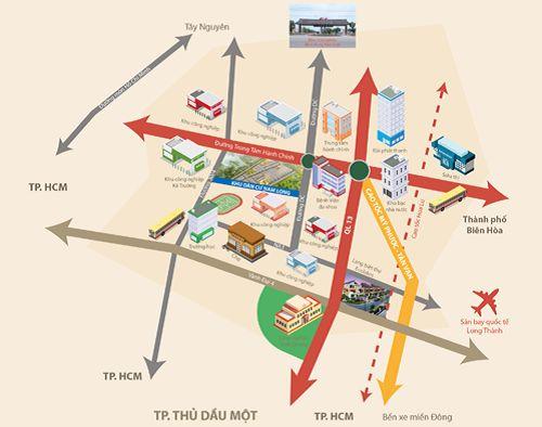 Nam Long TAT - Vị trí Phối cảnh vị trí khu vực có dự án Nam Long TAT