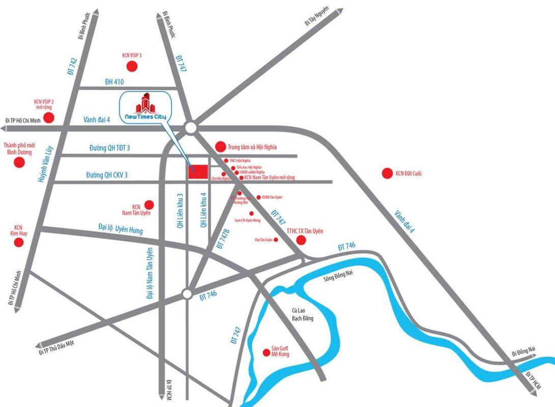New Times City Bình Dương - Vị trí dự án đất nền nhà phố
