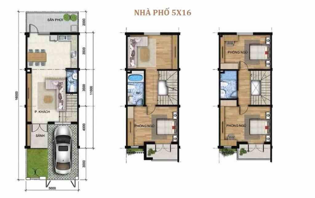 Corona City Bình Chánh - Khang Điền Group - Thiết kế nhà phố Mặt bằng dự án