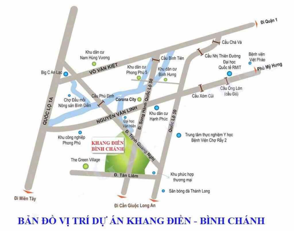 Corona City Bình Chánh - Khang Điền Group - Vị trí dự án