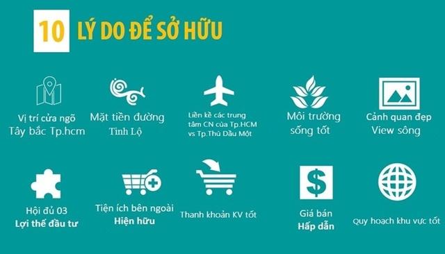 Hoà Phú Green City Củ Chi - Các lý do sở hữu dự án