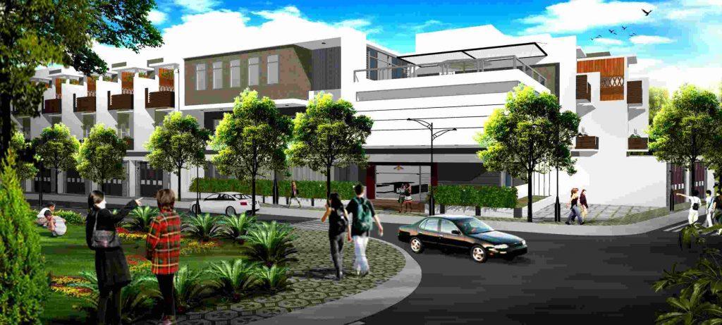 Hoàng Phúc Garden Cần Đước Long An - Mẫu nhà phố dự án đất nền