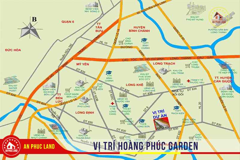 Hoàng Phúc Garden - vị trí dự án đất nền