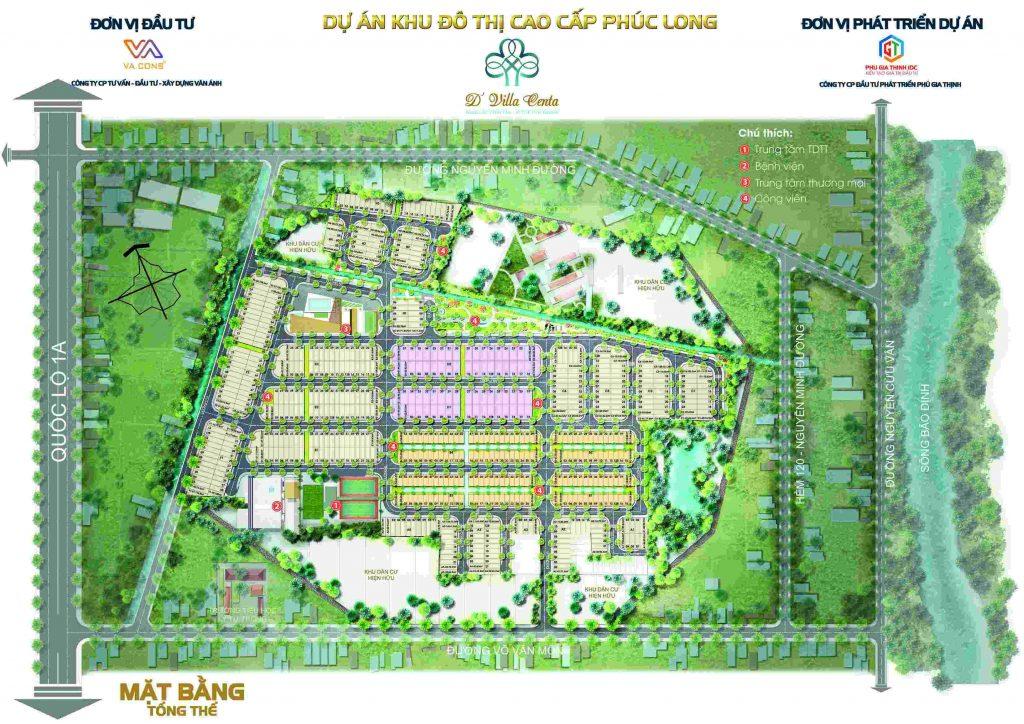 Khu Đô Thị Phúc Long – D' Villa Centa - Mặt bằng Tổng quan dự án-compressed