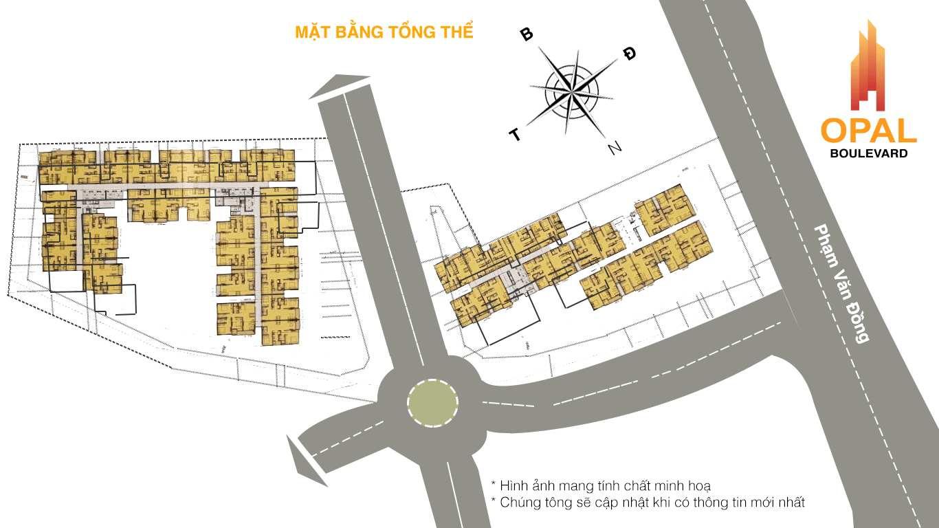Opal Boulevard - Mặt bằng dự án căn hộ chung cư Phạm Văn Đồng