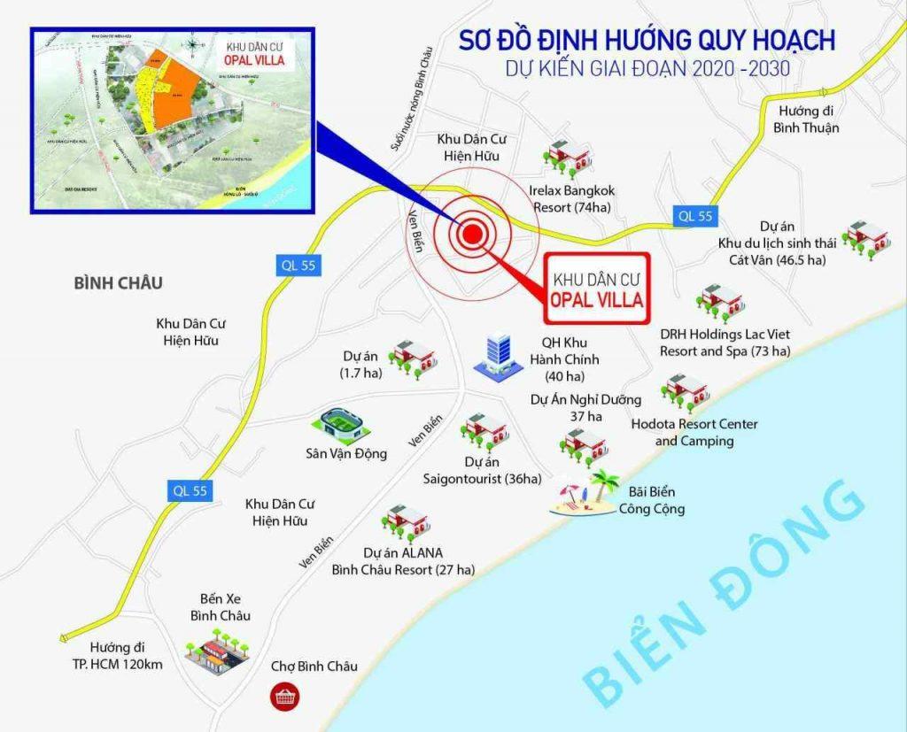 Opal Villa Bình Châu - Vị trí Xuyên Mộc Bà Rịa Vũng Tàu