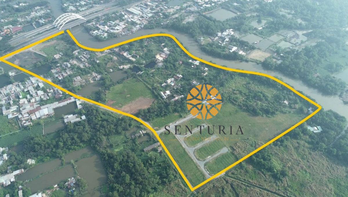 Senturia Nam Sài Gòn - Quận 7 Bình Chánh - Mặt bằng dự án nhà phố + biệt thự