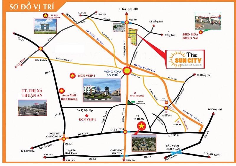 The Sun City Bình Dương - Vị trí dự án