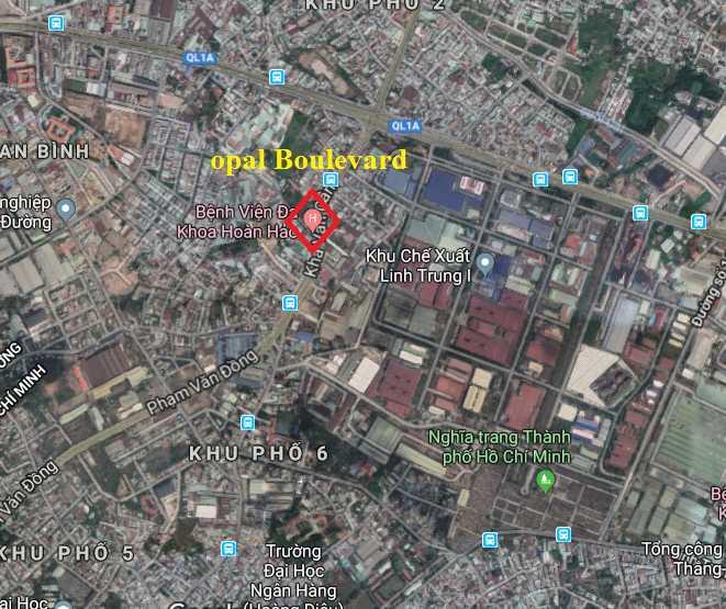 opal boulevard thủ đức - vị trí dự án căn hộ chung cư Đất Xanh-compressed