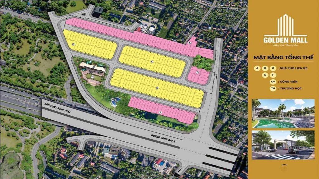 Golden Mall Bình Thái Quận 9 - Mặt bằng dự án đất nền