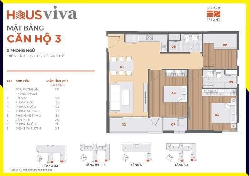Hausviva Lò Lu Quận 9 - Thiết kế căn hộ 3