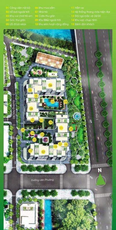 Tecco Vina Garden Quận 9 - Mặt bằng tổng thể dự án