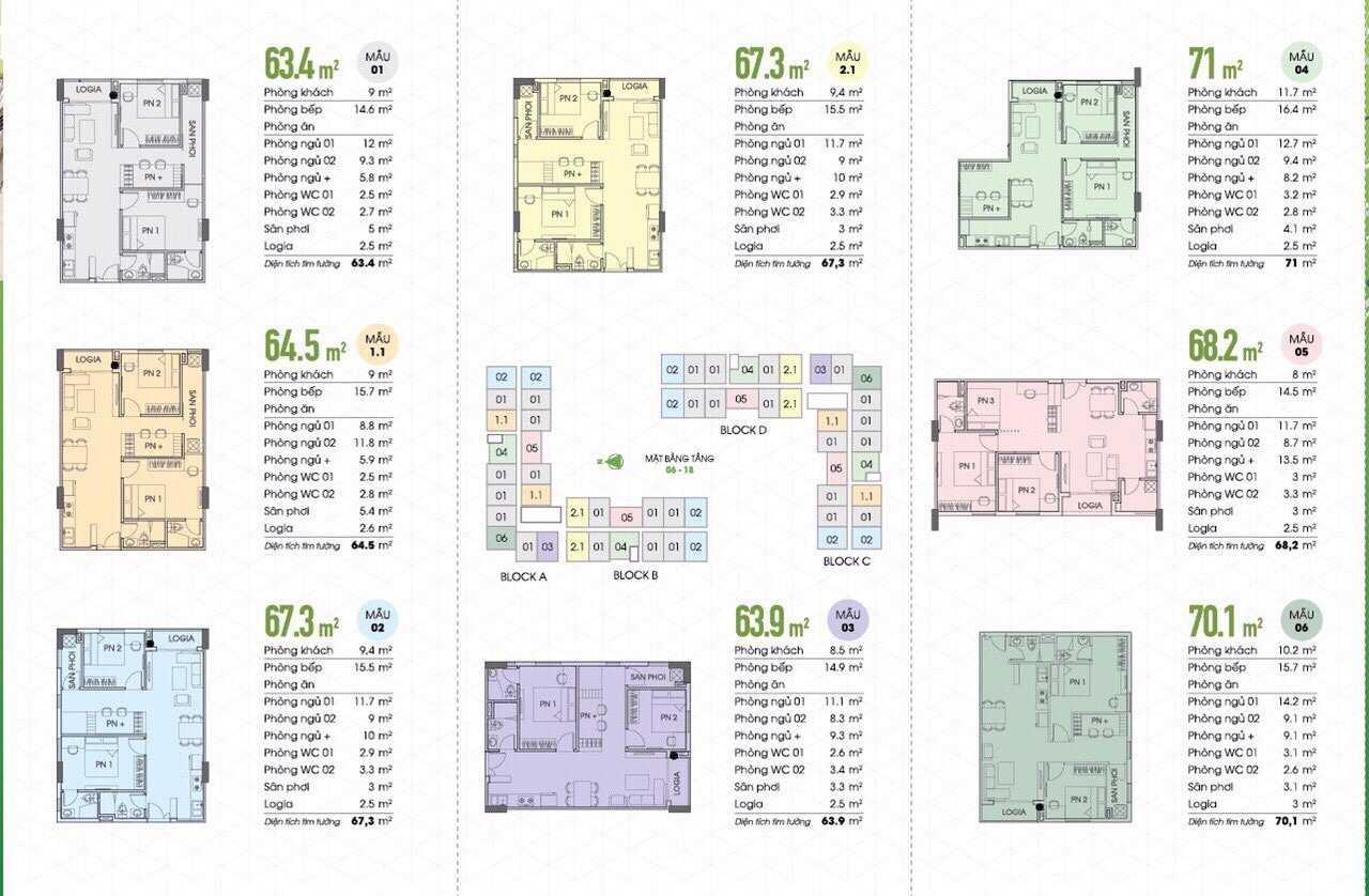 Tecco Vina Garden - Thiết kế từng căn hộ tại dự án