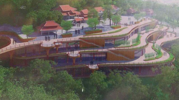 Công trình mở rộng mặt sân Chùa Bà Đen