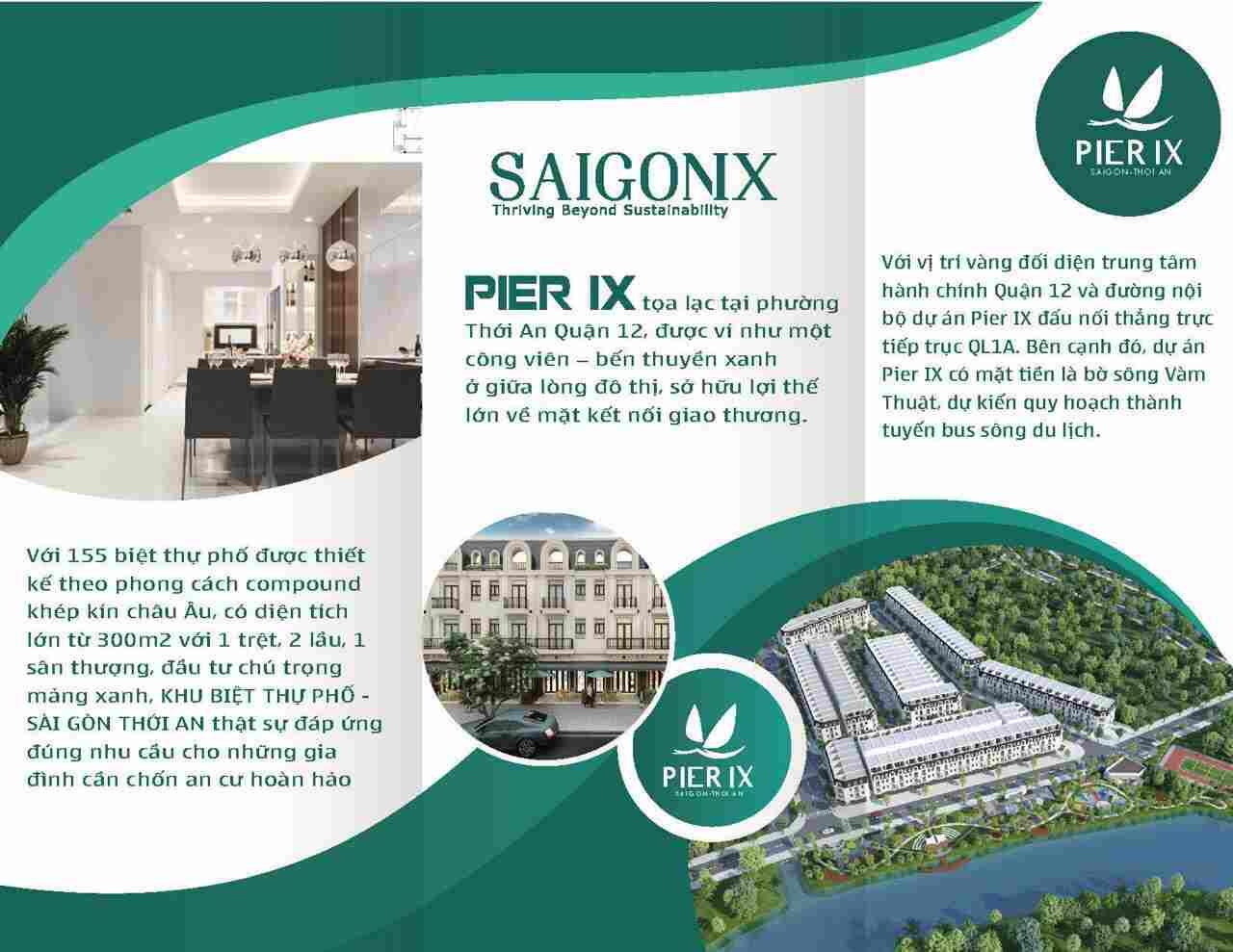 Pier IX Thới An Quận 12 - Thiết kế Tổng thể dự án đất nền nhà phố