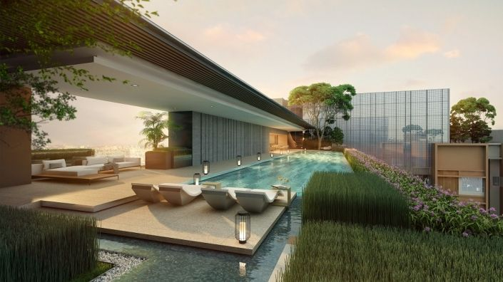 The Marq Nguyễn Đình Chiểu Quận 1 - Hồ bơi Tổng quan dự án căn hộ chung cư cao cấp