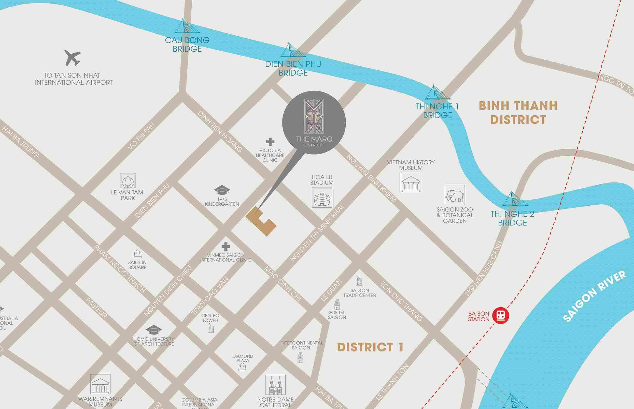 The Marq Nguyễn Đình Chiểu Quận 1 - Vị trí Tổng quan dự án căn hộ chung cư cao cấp