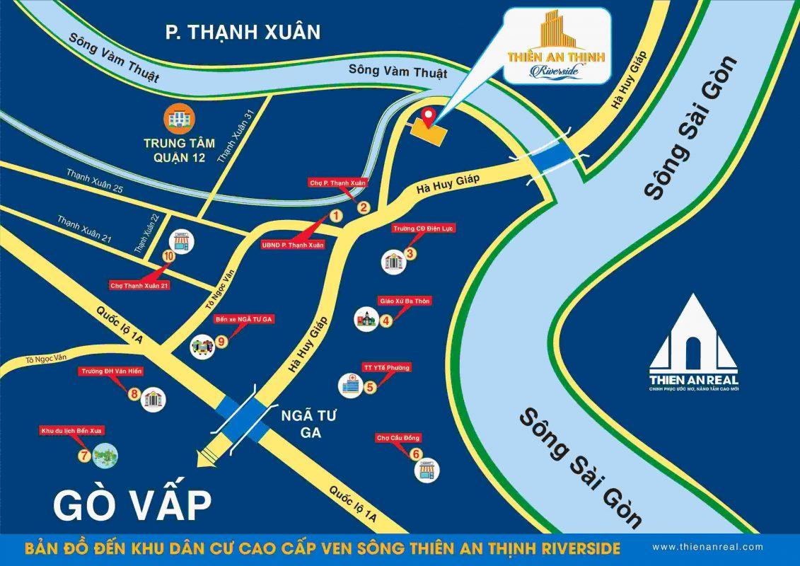 Thiên An Thịnh Riverside Quận 12 - Vị trí dự án đất nền
