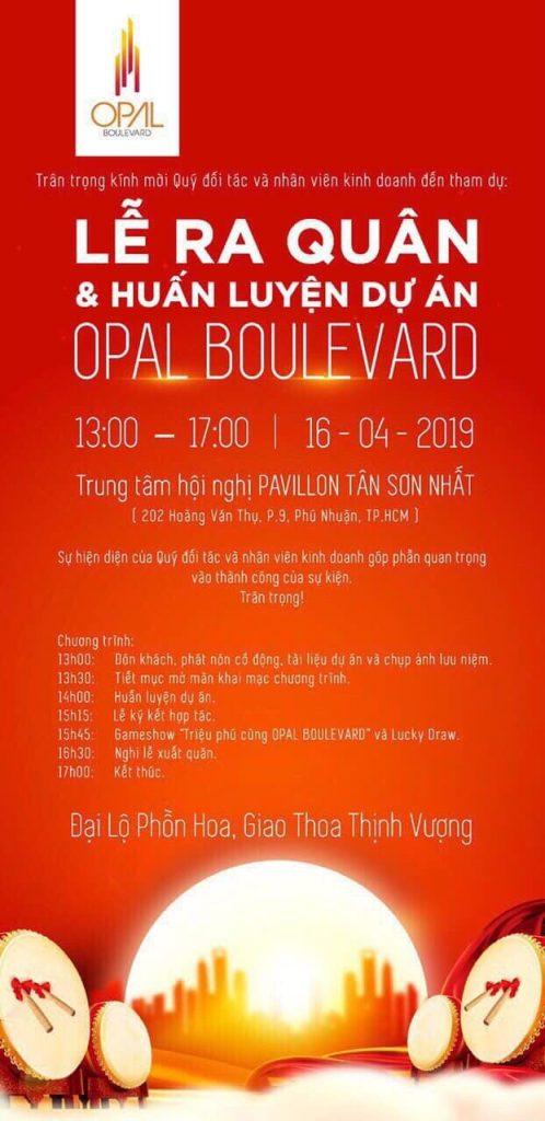 Opal Boulevard lễ ra quân ngày 16_4_2019