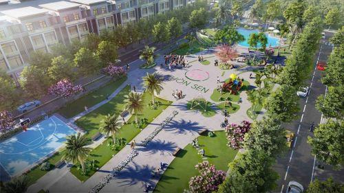Phối cảnh dự án khu đô thị Vườn Sen