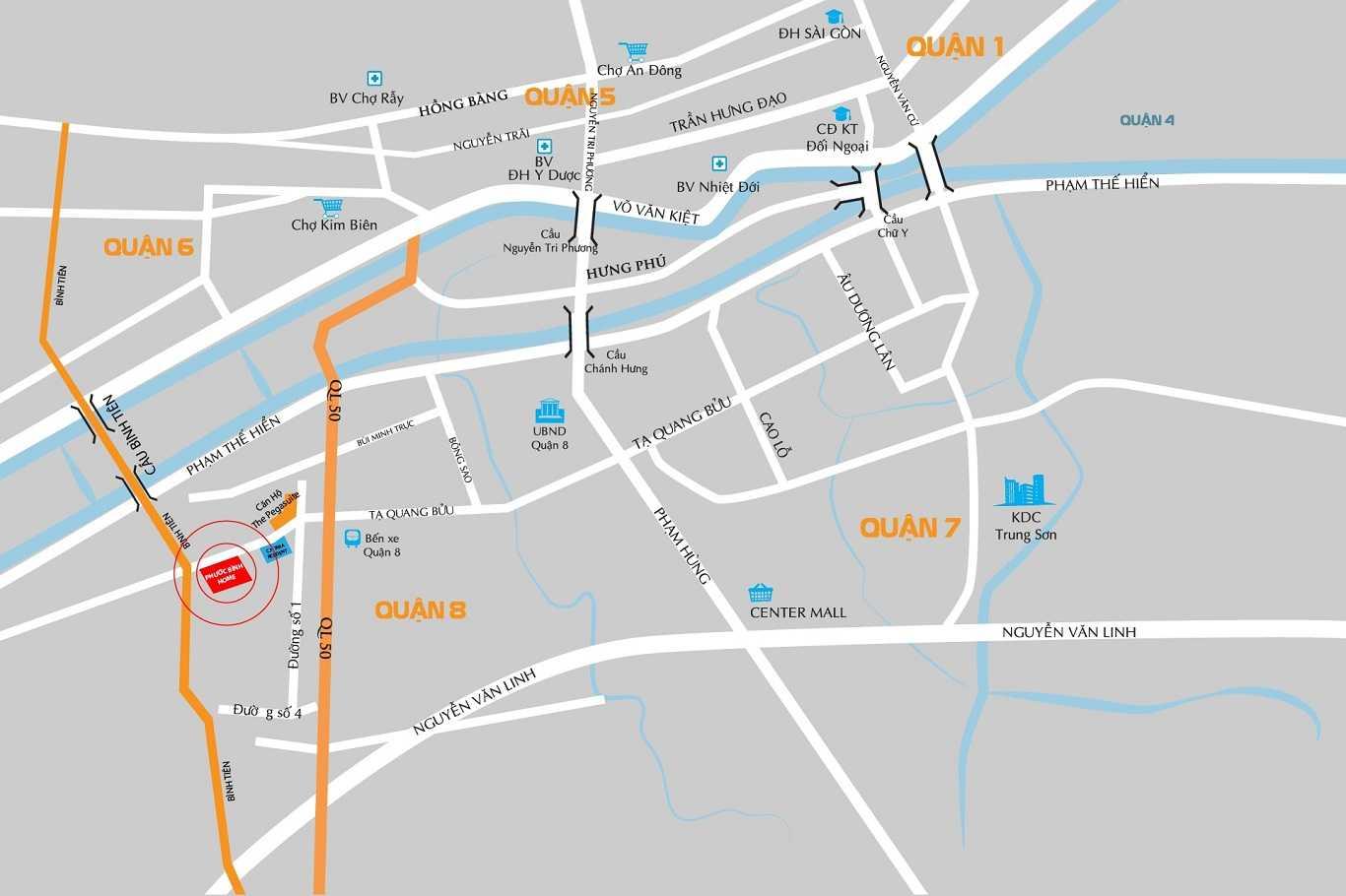 Phước Bình Home Quận 8 - Vị trí dự án