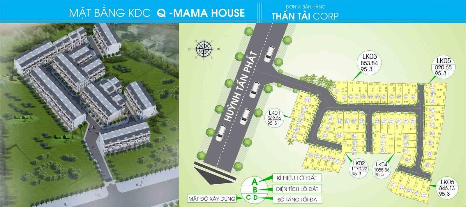 Q-Mama House Huỳnh Tấn Phát Nhà Bè - mặt bằng vs vị trí dự án