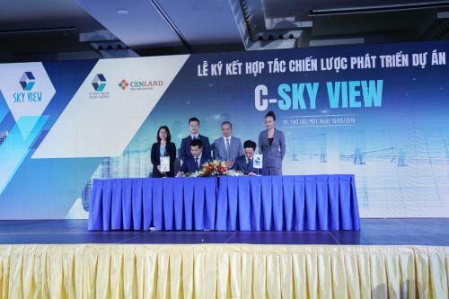 Đại diện Chánh Nghĩa Quốc Cường và CenLand ký kết hợp tác phát triển dự án C-Sky View