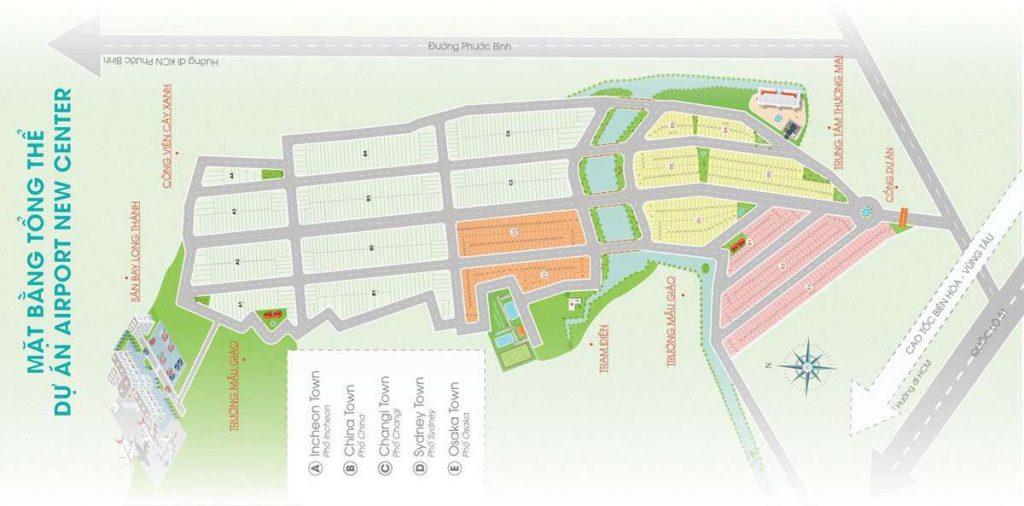 Airport New Center Long Thành - Mặt bằng tổng thể dự án