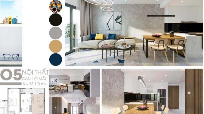 C SkyView Bình Dương Thiết kế căn hộ phòng khách compressed