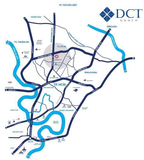 Charm City Bình Dương - Vị trí Tổng quan dự án căn hộ chung cư