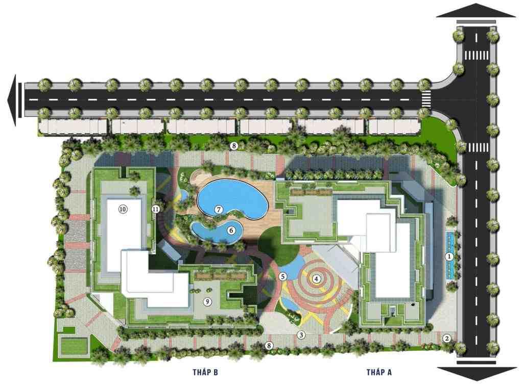 Dự án căn hộ nhà ở xã hội An Dương Vương Quận 8 - Mặt bằng