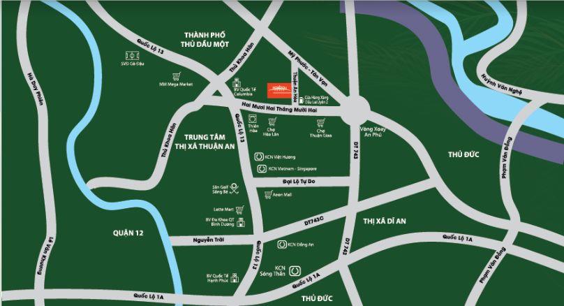 Horizon Homes Thuận An Bình Dương - Vị trí dự án