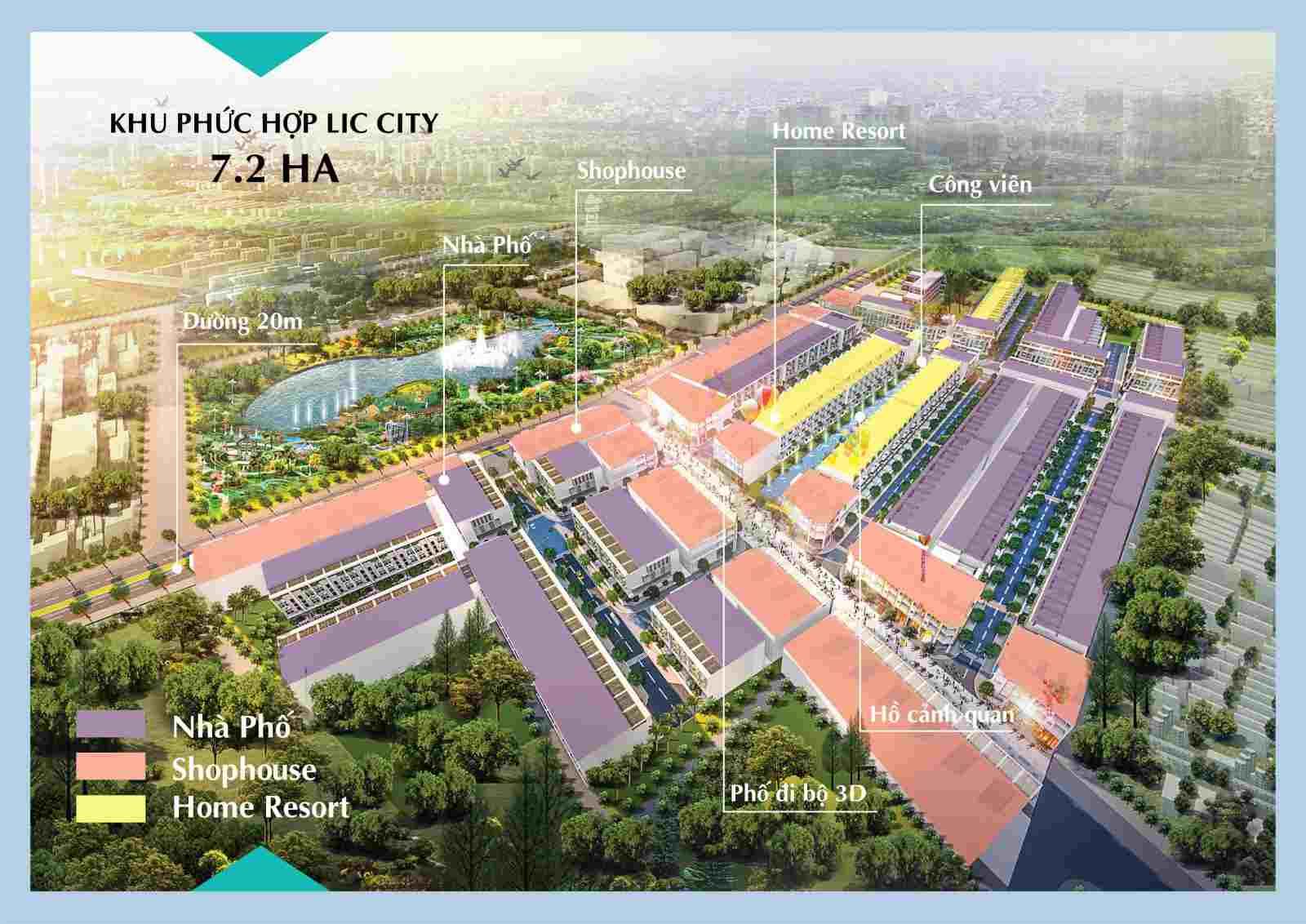 LIC City Phú Mỹ - Tiện ích Tổng quan dự án