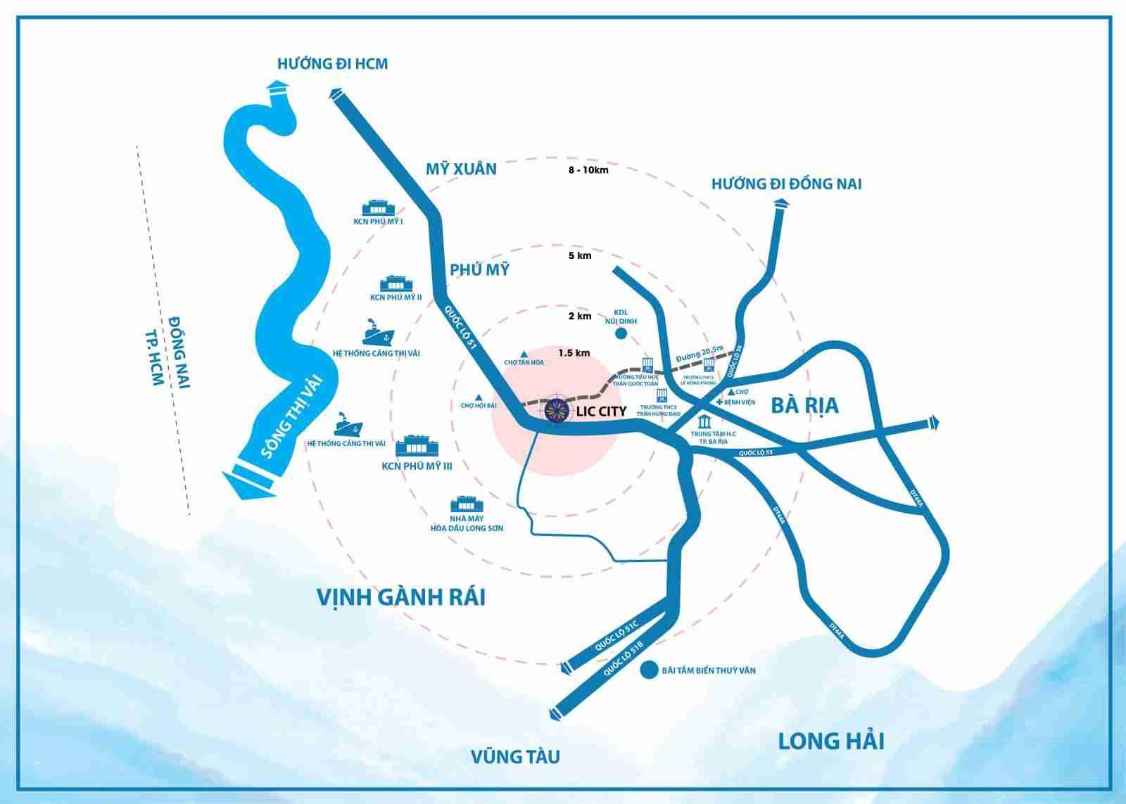 LIC City Phú Mỹ - Vị trí Tổng quan dự án