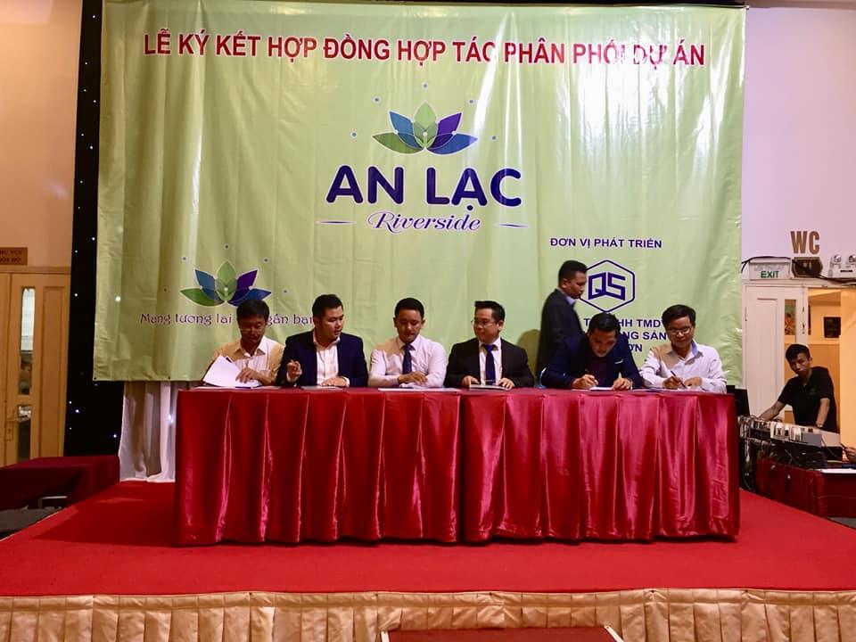 Quang Sơn Group ký kết với các đối tác tại dự án An Lạc Riverside