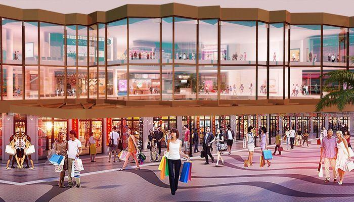 D-Mall toạ lạc giữa khu đất