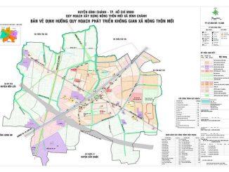 Quy hoạch thị trấn tân túc bình chánh - Bản đồ 2019