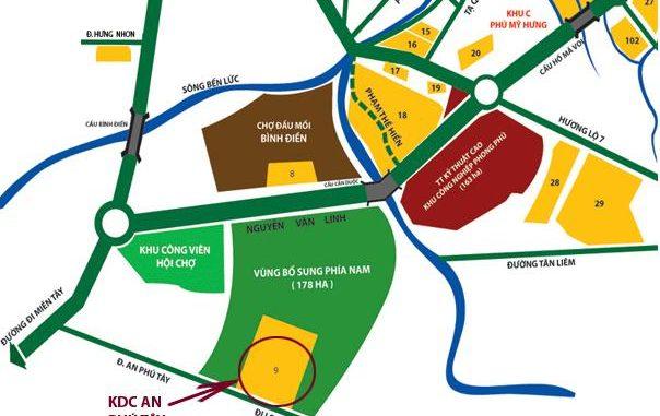 Quy hoạch xã An Phú Tây huyện Bình Chánh