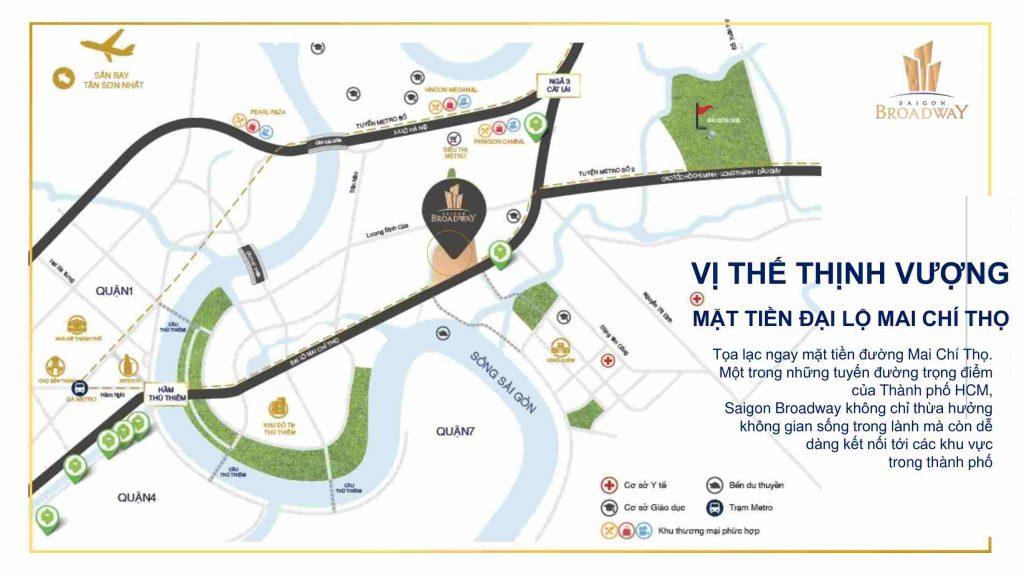Saigon Broadway Novaland Quận 2 - Vị trí