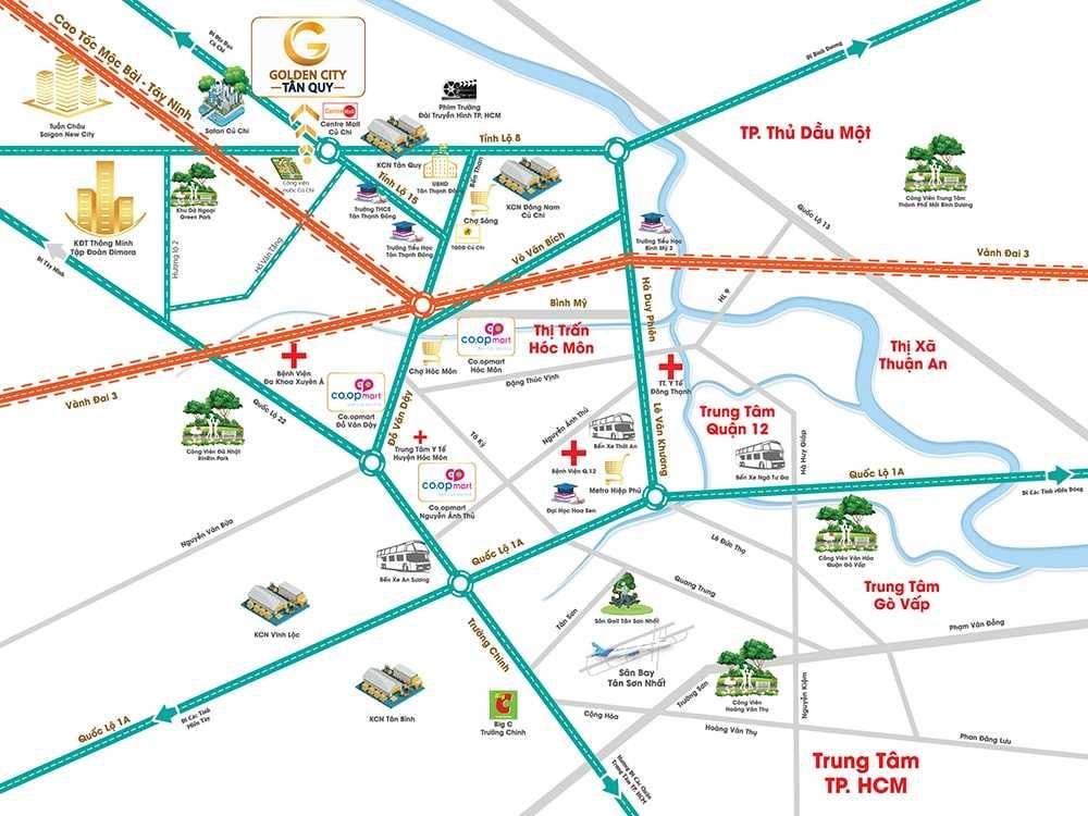 Golden City Tân Quy - Vị trí