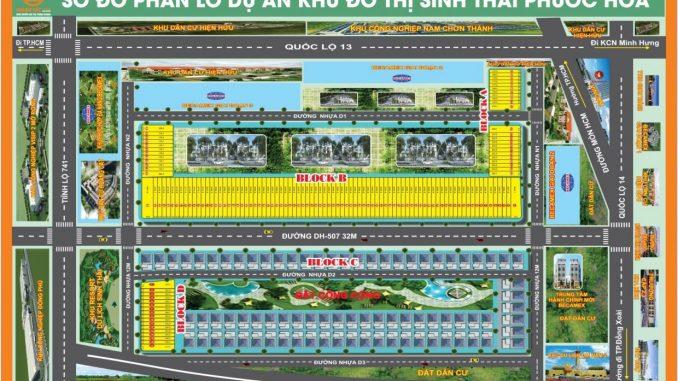Khu đô thị sinh thái Phước Hòa, Chơn Thành, Bình Phước - Tổng quan dự án