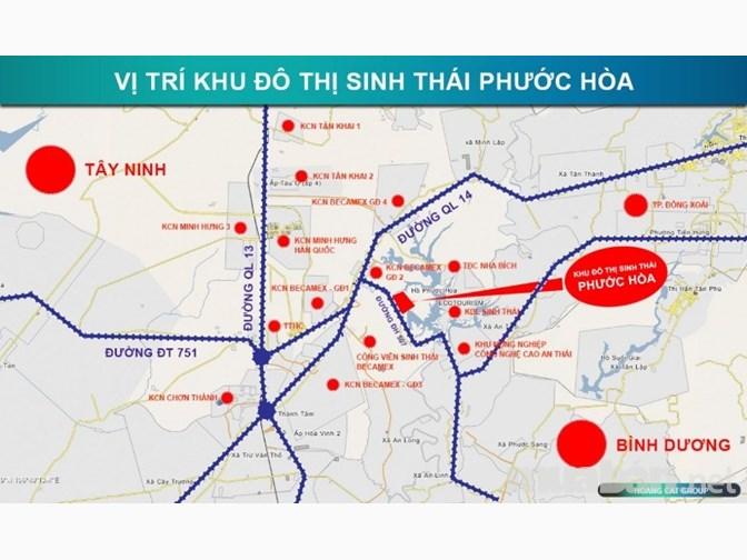 Khu đô thị sinh thái Phước Hòa, Chơn Thành, Bình Phước - Vị trí Tổng quan dự án