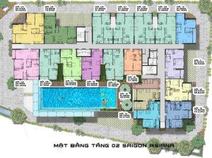 Sài Gòn Asiana Quận 6 - Mặt bằng tầng 2-compressed